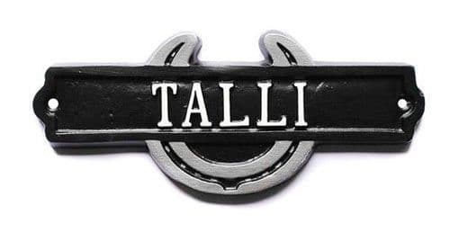 Cast Metal Horse Shoe Name Plates | The Sign Maker
